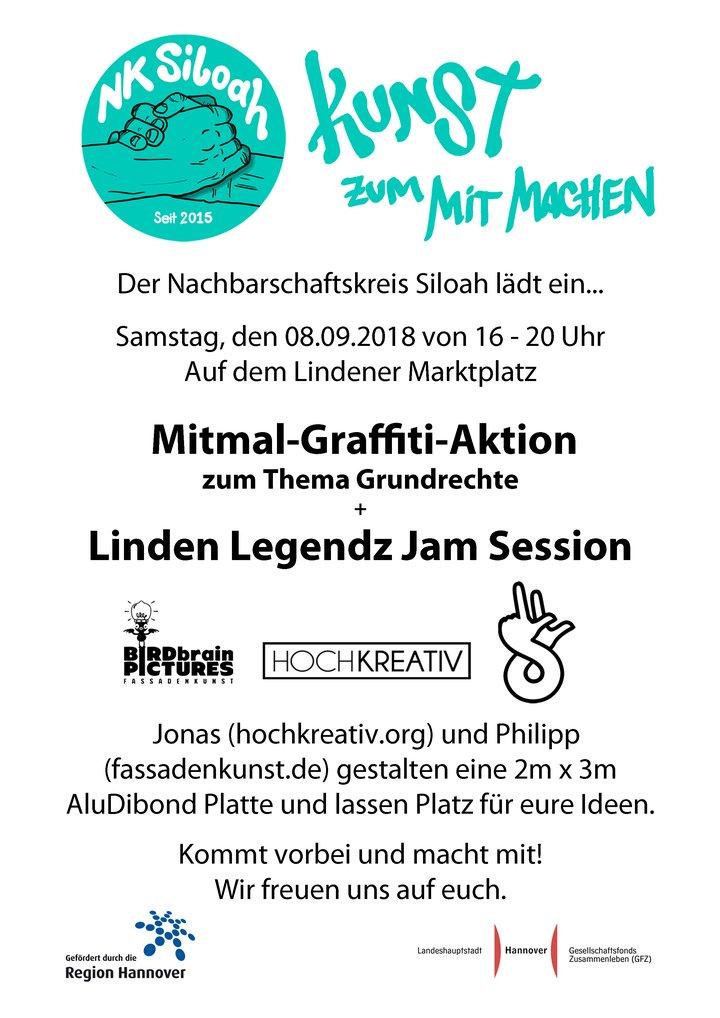 Handzettel Kunstaktion Grundrechte 08.09.2018